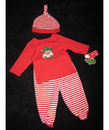 BOYS 3-6 MONTHS - Baby Works - My First Christmas HAT, FOOTED PANTS & SH... - $12.00