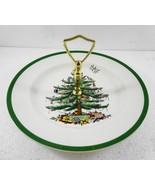 "Spode Christmas Tree Single Tier Tidbit Tray Cookie Appetizer Plate 10 1/2"" - $47.97"