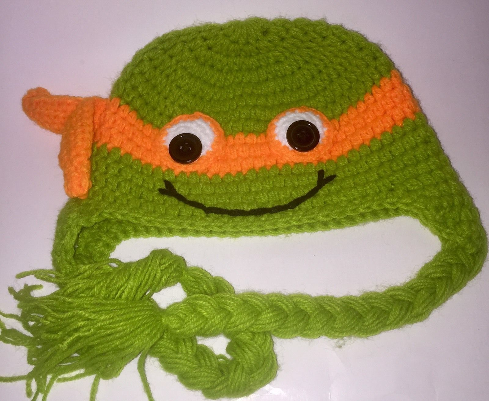 92014521a54 TMNT Michelangelo Kids Knitted Beanie Hat Cap - FAST SHIPPING!
