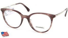New Chanel 3378-B-A c.1653 Smoky Violet Brown Eyeglasses Frame 50-19-140mm Italy - $357.68