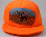 Deer Hunter Trucker Ball Cap  Blaze Orange Water Resistant Made in U.S.A