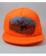 Deer Hunter Trucker Ball Cap  Blaze Orange Water Resistant Made in U.S.A - $5.85