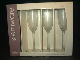 NIB! 4 Champagne flutes elegant europeon style ... - $12.46