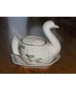 CDP Natural White Clay Hand Crafted Duck or Turkey Planter AL66 - $14.99