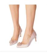 New TED BAKER Size 7 DAHRLIN Pink Satin Heels Pumps Shoes 37.5 - $179.00