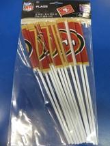 San Francisco 49ers NFL Pro Football Sports Banquet Party Favor Plastic Flags - $10.66