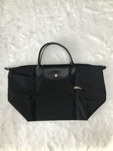 Longchamp Club Collection Horse Embroidery Short Handle Medium Handbag B... - $95.00