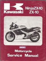 1988-1990 Kawasaki Ninja ZX-10 Service Repair Workshop Manual CD --- ZX1000 ZX10 - $12.00