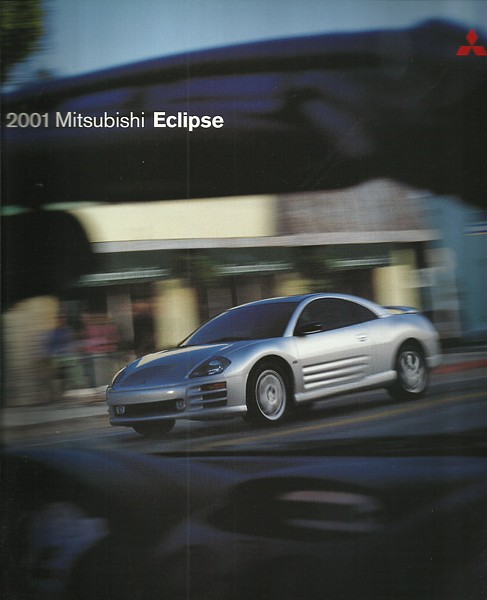 Primary image for 2001 Mitsubishi ECLIPSE sales brochure catalog US 01 RS GS GT