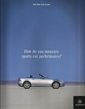 2001 Mercedes-Benz SLK sales brochure catalog 230 Kompressor 320 US 01 - $10.00