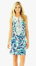 NWT LILLY PULITZER $218 New Multi Pier Pressure Carlotta Stretch Shift D... - $120.88