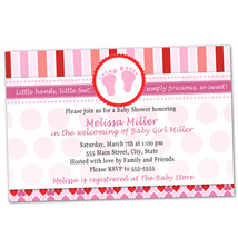 Printable Personalized Valentines Inspired Baby Girl Shower Invitation F... - $14.00