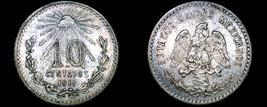 1911 Mexican 10 Centavo World Silver Coin - Mexico - $79.99