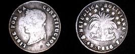 1856-PTS FJ Bolivian 4 Soles World Silver Coin - Bolivia - $59.99