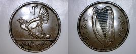 1940 Irish 1 Penny World Coin - Ireland - $49.99