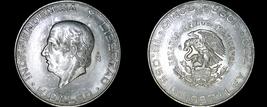1957 Mexican 5 Peso World Silver Coin - Mexico - $49.99