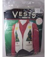 Dimensions Vest Appliques Kit HOLIDAY TREE 62001 Fashion Art Felt - $14.84