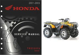 2001-2003 Honda TRX500FA Rubicon Service Repair Manual CD  --  TRX 500 FA TRX500 - $12.00