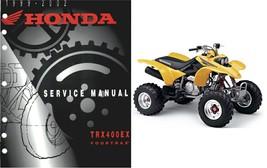 1999-2002 Honda TRX400EX Fourtrax Service Repair Manual CD --- TRX 400 EX TRX400 - $12.00