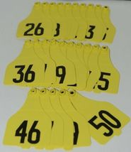 Destron Fearing DuFlex Visual ID Livestock Panel Tags XL Yellow 25 Sets 26 to 50 image 5