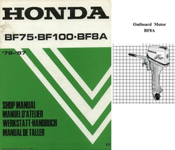 Honda BF75 BF100 BF8A Outboard Motor Service Repair Manual CD ---- BF 75 100 8A - $12.00