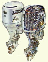 Honda BF115A / BF130A Outboard Motor Service Repair Manual CD ---- BF 115 130 A - $12.00