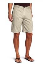 Dockers Mens Big & Tall Flat Front Classic Fit Shorts Beige 100% Cotton 40 - $12.99