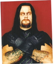 Undertaker V Vintage 11X14 Color Wrestling Memorabilia Photo - $14.95