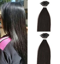 """18"""",22"""" 100grs,125s,I Tip (Stick Tip) Fusion Remy Human Hair Extensions #1B - $98.99+"""