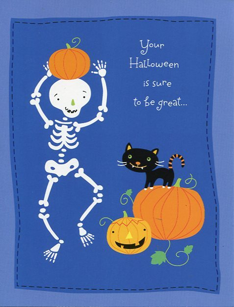 "Greeting Card Halloween ""Your Halloween is sure to be great..."""