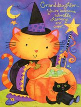 "Greeting Card Halloween ""Grandaughter - You're awesome,..."" - $1.50"