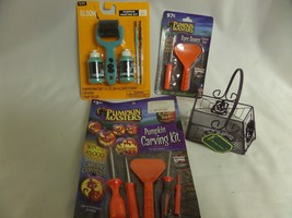 PUMPKIN LOT PAINTING/CARVING KIT WITH PAINT ROLLER &  BRUSHES NIP & BASKET - $30.27 CAD