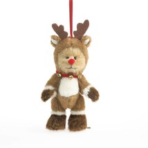 "Boyds Bears ""Rudolph"" 5"" Plush Reindeer Bear Ornament-  #4034025 -NWT - ... - $18.99"