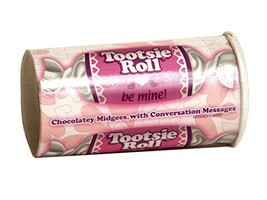 Tootsie Roll Midgees with Valentines Day Message - $7.88