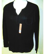 Faded glory organic cotton thermal shirt black size 2X new with tag - $6.95