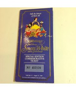 Disney's Snow White and the Seven Dwarves 50th Anniversary Ticket and Co... - $21.29