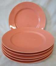 Fitz and Floyd Total Color Spectrum Coral Peach Dinner Plate Set of 6 - $60.28