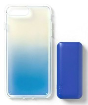 heyday Cool Blue Iridescent Apple iPhone 6, 7 & 8 Plus Case with Power Bank NEW image 1