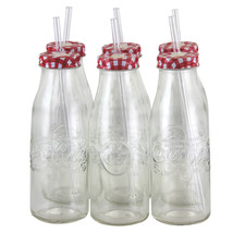 Coca Cola Country Classic 6 Piece 15 oz Bottle Glass Set - $39.40