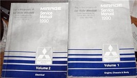 1990 Mitsubishi Mirage Owners Service Manuals Parts Workshop Manual Book - $44.99