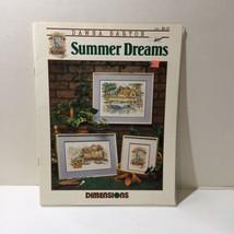 Dawna Barton Summer Dreams Cross Stitch Pattern Book Dimensions - $9.74