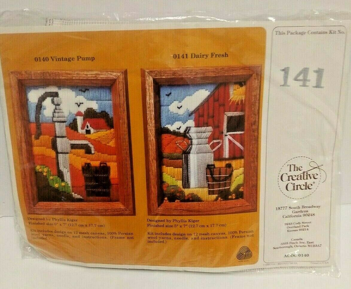 Primary image for The Creative Circle 0141 Dairy Fresh Wool Yarn Craft Kit Farm Style