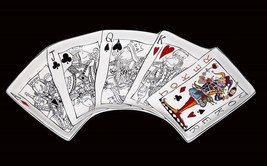 MUDPIE Playing Cards Winning Hand A*J*Q*K*JOKER Hndpnt Platter Tray NWT ... - $36.99