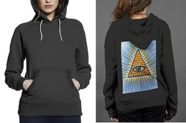 Classic Hoodie Black women The All Seeing Eye - $28.99
