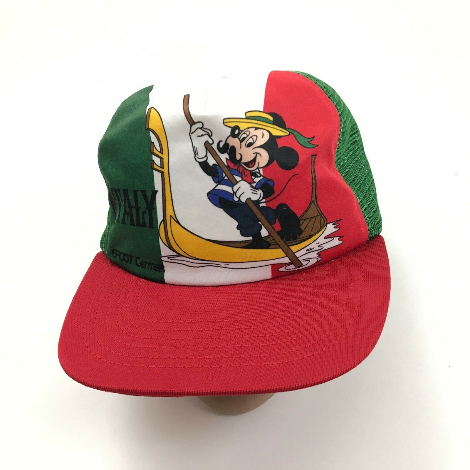 VINTAGE Mickey Mouse Trucker Hat ITALY Epcot Center Disney 1982 UNION USA MADE