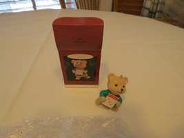 Hallmark Keepsake ornament Christmas BINGO play bear 1995 RARE NOS handc... - $16.03