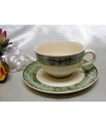 2373 Antique Scio Currier Ives Tea Cup Saucer Set - $6.00