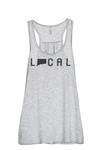 Thread Tank Local Connecticut State Women's Sleeveless Flowy Racerback T... - $24.99+