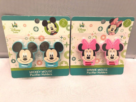 2-Pack Baby Pacifier Holders Minnie Mickey Mouse - $8.98