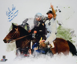 Wade Boggs signed New York Yankees 1996 World Series 16x20 Photo w/ trip... - $58.95